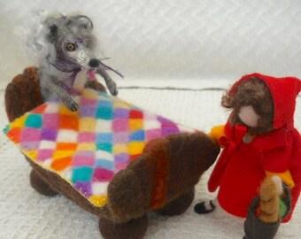Little Red Riding Hood, The Wicked Wolf, Waldorf, Nursery Rhymes, Needle Felted, Pre School, Nursery School, Play School,