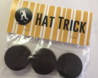 Hat Trick Bag Hockey Birthday Party Treat Topper Bags Pittsburgh Penguins Gold