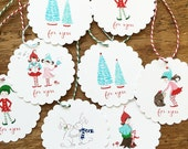 Pixie Noel Holiday gift tags - set of 12