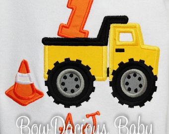 Boy's Dump Truck Birthday Shirt or Bodysuit, Contruction Birthday Shirt, Construction First Birthday Shirt, Dump Everything Birthday, First