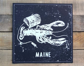 SALE Maine Lobster Screen Print
