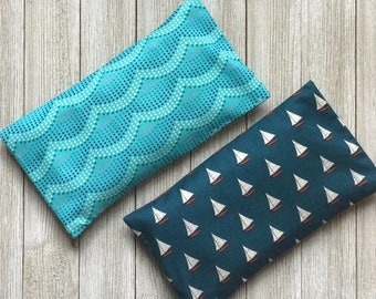 Removable Covers- His and Hers -Organic Lavender and Rice Eye Pillows- Aromatherapy Eye Mask Yoga