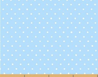 Windham - Basics/Pastels - Light Blue w/ White Dots - Fabric by the Yard 29400-14