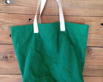 Large Cotton Shopping bag, mens canvas shopping bag, cotton reusable bag, Mens shopping bag, Basic Shopping Bag II