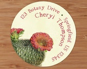 Cactus Rose - Address Labels or Stickers