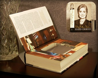 Hollow Book Safe & Flask (Hard Choices by Hillary Clinton)