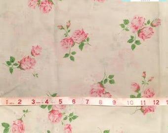 Pretty Vintage Pink Floral Pillowcase