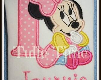 1st First Baby Minnie birthday onesie ONLY size 6-12m, 12m or 18 m