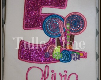 Personalized Candyland number birthday shirt 1st 2nd 3rd 4th 5th All sizes