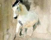 Horse Original watercolor painting 8x10inch