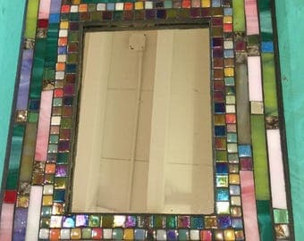 MOSAIC MIRROR, Accent Mirror, Multicolored, Wall Art, Wall Hanging