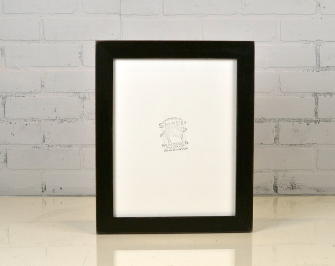 "Handmade 11x14"" Picture Frame in 1.5 inch standard style with Vintage Black Finish - IN STOCK - Same Day Shipping Black Photo Frame"