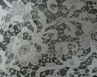 Antique Lace Vintage Lace  Handmade Needlepoint Lace Collectible
