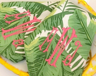 Monogram Banana Leaf Napkins