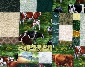 Moo-ving the Herd -- Handmade & Hand-Quilted