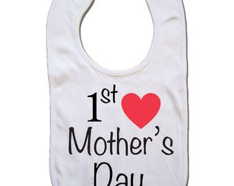 baby bibs 1st  mothers day, new mom, baby gifts