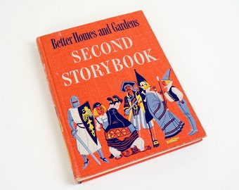 Vintage 1950s Childrens Book / Better Homes and Gardens Second Storybook 1952 First Edition VGC / Favorite Stories and Poems of the World