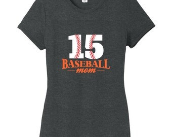 Custom Baseball Mom - Personalized Sports Women's Fitted T-Shirt