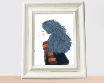 minimal girl Hermione granger