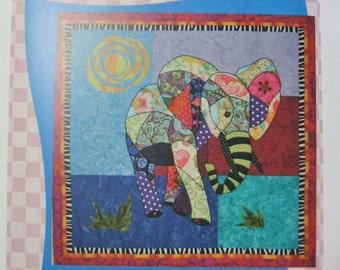 Ellie Elephant Scrappy Fusible Machine Applique Quilt Pattern