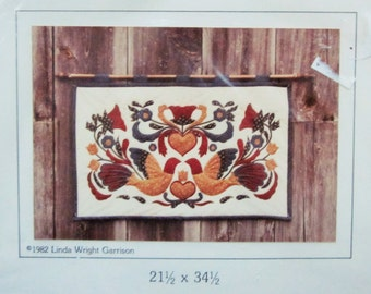 Goose Girl Creations, Pennsylvania Dutch Wall Hanging, Quilting Pattern, NIB