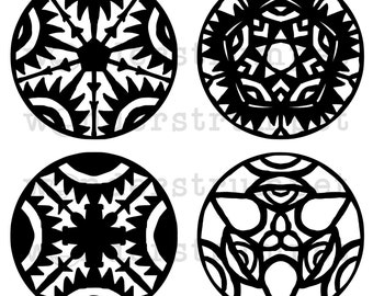 The Eyes Have It Doily Stencils