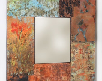 40 x 37 Metal and Copper Mirror