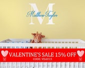 Valentines Sale - Wall Decal Name Monogram Vinyl Decal Lettering Personalized For Your Child Wall Words