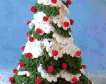 Vintage Crochet Pattern Christmas Tree Holiday Decorations - Instant download Xmas