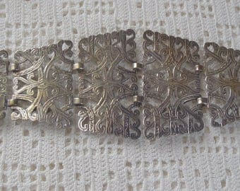 Vintage Belt Filigree Links EPNS