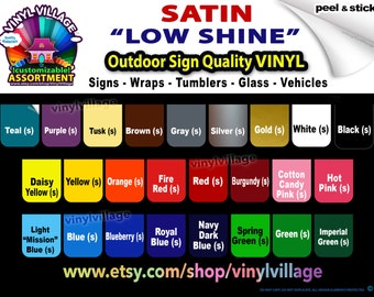 2 sheets 12x12 Adhesive Backed Vinyl YOU PICK COLORS, Sign & Craft outdoor quality vinyl
