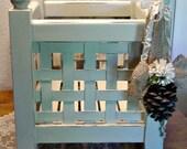 Wood Box Tote - Magazine Rack - Storage Box - Seasonal Decor - Farmhouse Decor - Footed Box
