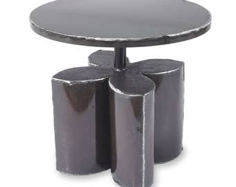 Compass Side or End Table Decorative Metal Table