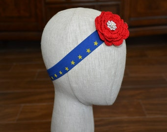Wonder Woman Inspired Floral Hair Band