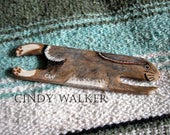 """Wild Brown Bunny - 6"""" Wild Weaving Shuttle for Card Tablet Inkle Band or Backstrap Loom"""
