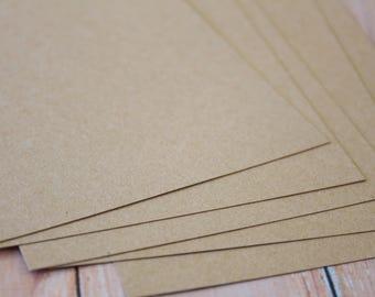 Eco Kraft Brown Card Stock heavyweight crafting cards