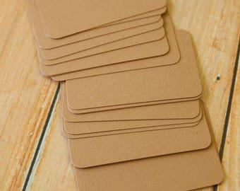 Almond Crush 50pc handmade blank Business Cards