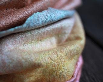 Chunky scarf women scarf felted scarf orange merino wool scarf infitiny scarf wool hood silk cowl hooded scarf ombre scarf neck warmer