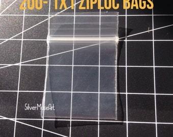 200 quantity of 1x1 interior zip bags for jewelry storage destash
