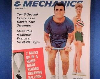 Vintage  Science & Mechanics October 1964 Magazine - Woodworking, Tools, Crafts Patterns