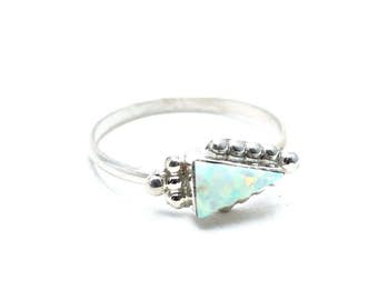 Arrow Opal Zuni Ring