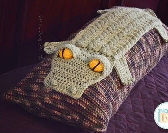 NEW PATTERN Snappy Simon the Crocodile Pillow PDF Crochet Pattern with Instant Download