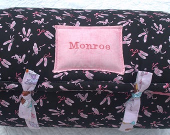 Ballerina Girl One of a Kind Quilted Nap Mat by janiebee.com Toddler Nap Mat, Sleeping Bag