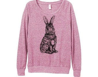 New! Rabbit Sweater  - Womens Rabbit Sweatshirt   - Small, Medium, Large, Extra Large