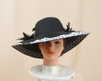 Silver and Black Hat * Black Floppy Hat * Kentucky Derby Hat * Black Derby Hat * Church Hat * Formal Hat * Wedding Hat * Ascot Hat