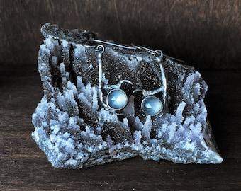 Seer Earrings - Grey Moonstone