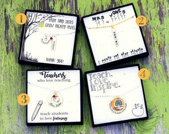 SALE • Teacher Gift Box Teacher Appreciation Gift • Teacher Thank You Gift Wrap • Custom Gift Box Kraft Ready to Ship•Preschool Kindergarten