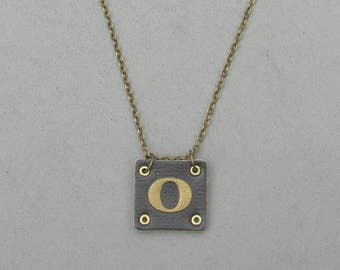Square Leather O Necklace