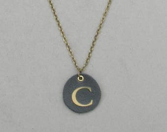 Round Leather C Necklace