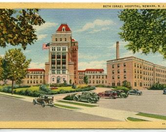 Beth Israel Jewish Hospital Newark New Jersey linen postcard